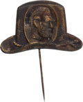 Political:Ribbons & Badges, Ulysses S. Grant: Grant-in-the-Hat Copper Shell Stickpin....