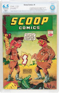 Scoop Comics #1 (Chesler, 1941) CBCS Restored FN+ 6.5 (Slight) Off-white to white pages