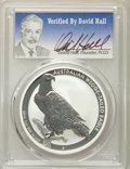 Australia, 2016-P $1 One Ounce Silver Wedge Tailed Eagle MS70 PCGS. Signatureof David Hall, Founder of PCGS. PCGS Population: (0). NG...