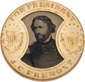 Political:Ferrotypes / Photo Badges (pre-1896), John C. Frémont: Back-to-Back Gault Frame Ferrotype....
