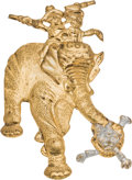 Political:Pinback Buttons (1896-present), William McKinley: Highly Clever G.O.P. Elephant Badge....