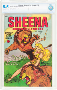 Sheena, Queen of the Jungle #16 (Fiction House, 1952) CBCS VF+ 8.5 Cream to off-white pages