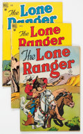 Golden Age (1938-1955):Western, Lone Ranger Group of 45 (Dell, 1949-61) Condition: Average FN....(Total: 45 Comic Books)