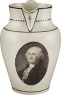 Political:3D & Other Display (pre-1896), George Washington: Herculaneum Liverpool Pitcher. ...