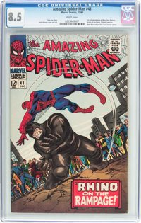 The Amazing Spider-Man #43 (Marvel, 1966) CGC VF+ 8.5 White pages