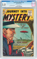 Golden Age (1938-1955):Horror, Journey Into Mystery #25 (Atlas, 1955) CGC VG/FN 5.0 Off-white towhite pages....