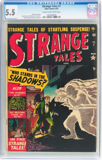 Strange Tales #7 (Atlas, 1952) CGC FN- 5.5 Cream to off-white pages