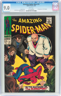 The Amazing Spider-Man #51 (Marvel, 1967) CGC VF/NM 9.0 White pages