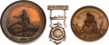 Miscellaneous:Ephemera, U. S. Mint Life Saving Medals and Awarded Badge.... (Total: 3Items)