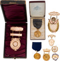 Miscellaneous:Ephemera, Musical Talent: Gold Award Medals and Badges.... (Total: 8 Items)