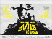 "I Escaped from Devil's Island (United Artists, 1974). British Quad (30"" X 40""). Action"