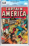Golden Age (1938-1955):Superhero, Captain America Comics #21 (Timely, 1942) CGC VG/FN 5.0 Cream to off-white pages....