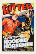 "Movie Posters:Western, The Mystery of the Hooded Horsemen (Grand National, 1937). OneSheet (27"" X 41""). Western.. ..."