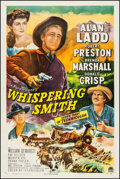 "Movie Posters:Western, Whispering Smith (Paramount, 1949). One Sheet (27"" X 41""). Western.. ..."