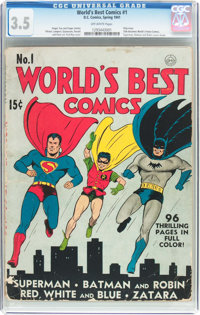 World's Best Comics #1 (DC, 1941) CGC VG- 3.5 Off-white pages