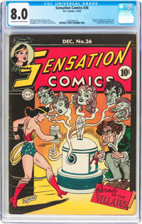 Sensation Comics #36 (DC, 1944) CGC VF 8.0 Off-white to white pages