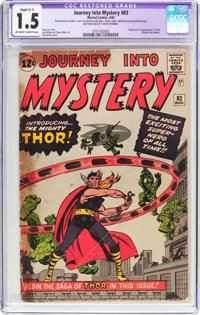 Journey Into Mystery #83 (Marvel, 1962) CGC Apparent FR/GD 1.5 Slight (C-1) Off-white to white pages