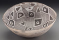 American Indian Art:Pottery, A Socorro Black-On-White Bowl . c. 1100 - 1250 AD...