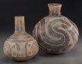 American Indian Art:Pottery, Two Caddo Incised Jars. c. 800 - 1200 AD... (Total: 2 Items)