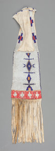 American Indian Art:Beadwork and Quillwork, A Sioux Beaded Hide Tobacco Bag. c. 1890. ...