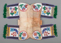 American Indian Art:Beadwork and Quillwork, A Cree Beaded Hide Pad Saddle. c. 1910...