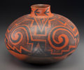 American Indian Art:Pottery, A Tularosa Black-On-Red Storage Jar . c. 1100 - 1250 AD...