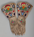 American Indian Art:Beadwork and Quillwork, A Pair of Cayuse Beaded Hide Gauntlets... (Total: 2 Items)