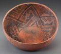 American Indian Art:Pottery, A Pinedale Black-On-Red Bowl ...