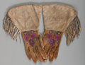 American Indian Art:Beadwork and Quillwork, A Pair of Plateau Embroidered Hide Gauntlets... (Total: 2 Items)