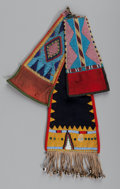 American Indian Art:Beadwork and Quillwork, Three Plateau Beaded Cloth Saddle Drops... (Total: 3 Items)