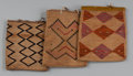 American Indian Art:Beadwork and Quillwork, Three Plateau Cornhusk Bags... (Total: 3 Items)