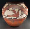 American Indian Art:Pottery, A Zia Polychrome Jar. c. 1900. ...