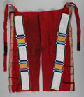 American Indian Art:Beadwork and Quillwork, A Pair of Plateau Man's Beaded Buffalo Hide and Cloth Leggings. c.1880... (Total: 2 )
