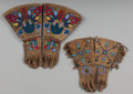 American Indian Art:Beadwork and Quillwork, Two Pairs of Plateau Beaded Hide Gauntlets. c. 1900... (Total: 4Items)