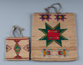 American Indian Art:Beadwork and Quillwork, Two Plateau Cornhusk Bags. c. 1910 and 1920... (Total: 2 Items)