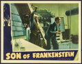 "Movie Posters:Horror, Son of Frankenstein (Universal, 1939). Lobby Card (11"" X 14"").Horror.. ..."