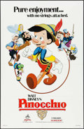 "Movie Posters:Animation, Pinocchio (Buena Vista, R-1984). One Sheet (27"" X 41""). Animation.. ..."