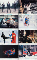 """Movie Posters:Action, Superman II (Warner Brothers, 1981). Lobby Card Set of 8 (11"""" X14""""). Action.. ... (Total: 8 Items)"""
