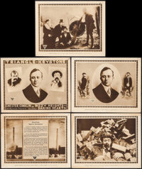 """Dizzy Heights and Daring Hearts (Keystone, 1915). Lobby Cards (5) (11"""" X 14""""). Comedy. ... (Total: 5 Items)"""
