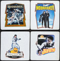"Movie Posters:James Bond, Moonraker (Roach, 1979). Iron-On Transfers (4) (12"" X 12"") &T-Shirts (2) (Various Sizes). James Bond.. ... (Total: 6 Items)"