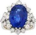 Estate Jewelry:Rings, Burma Sapphire, Diamond, White Gold Ring. ...
