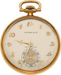 Estate Jewelry:Watches, Longines Gold Pocket Watch, Tiffany & Co.. ...