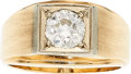 Estate Jewelry:Rings, Gentleman's Diamond, Gold Ring. ...