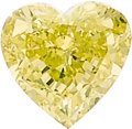 Estate Jewelry:Unmounted Diamonds, Unmounted Fancy Intense Greenish Yellow Diamond. ...