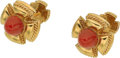 Estate Jewelry:Cufflinks, Coral, Gold Cuff Links, Schlumberger for Tiffany & Co.. ...(Total: 2 Items)