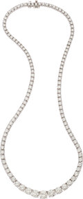 Estate Jewelry:Necklaces, Diamond, Platinum Necklace, Tiffany & Co.. ...