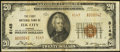 National Bank Notes:Kansas, Elk City, KS - $20 1929 Ty. 2 The First NB Ch. # 8145. ...