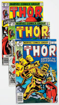 Modern Age (1980-Present):Superhero, Thor Group of 124 (Marvel, 1979-89) Condition: Average VF....(Total: 124 Comic Books)