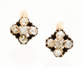 Estate Jewelry:Earrings, Antique Diamond, Gold Earrings. ... (Total: 2 Items)