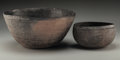 American Indian Art:Pottery, Two Mimbres Corrugated Bowls. ... (Total: 2 Items)